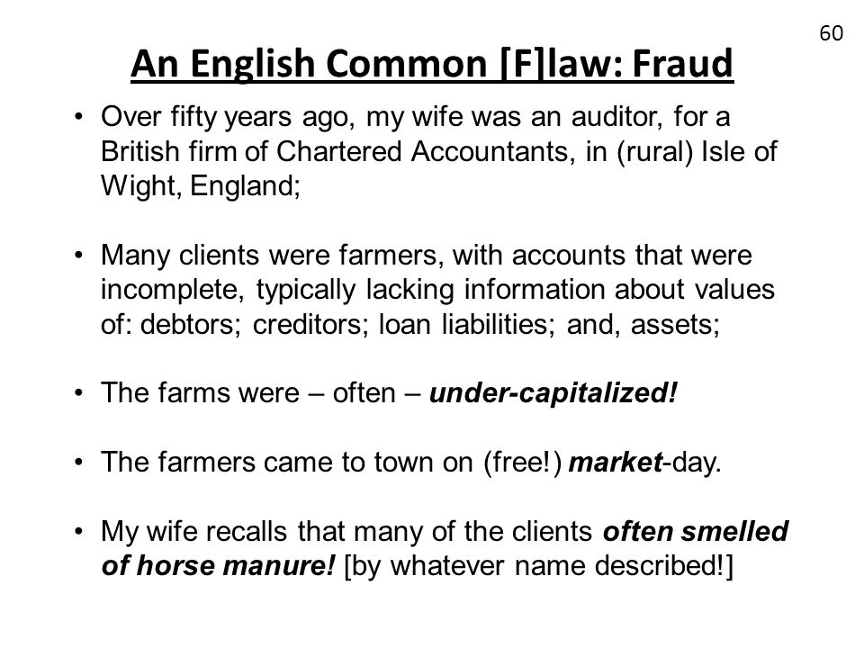 An English Common [F]law: Fraud